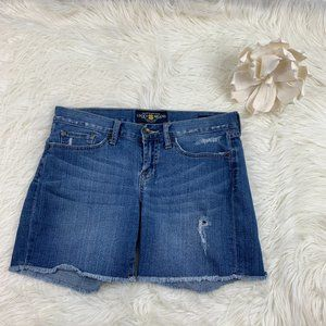 Lucky Brand Distressed Abbey Denim Shorts Size 2